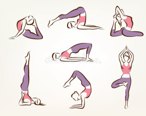 ensemble-de-poses-de-yoga-et-de-pilates-53296634