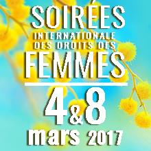 Soirée internationale des droits des femmes | samedi 4 & mercredi 8 mars 2017