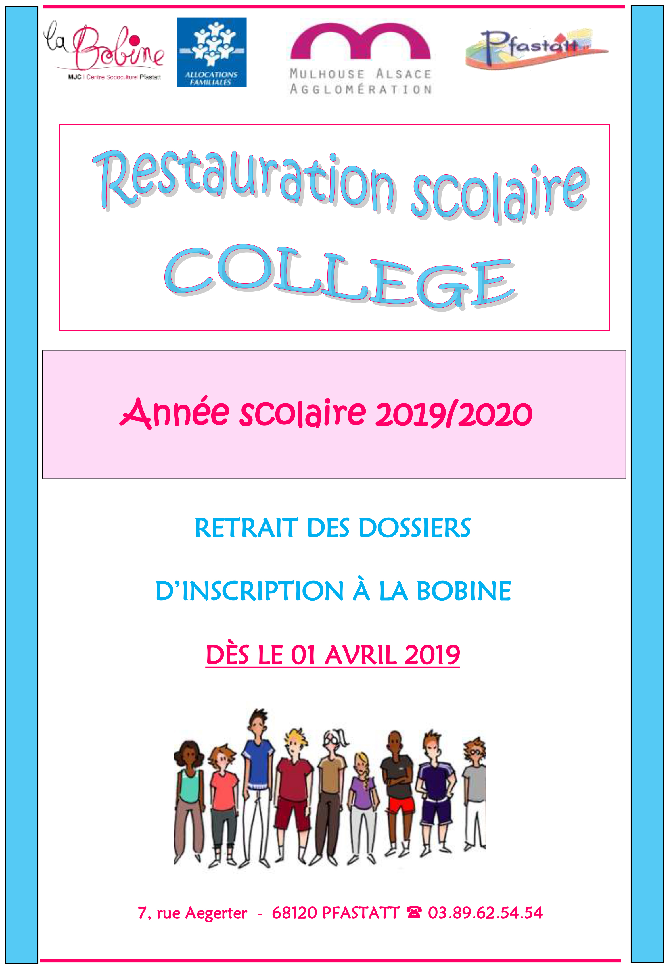 Flyer inscriptions college 2019 2020