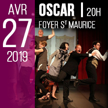 OSCAR | Samedi 27 Avril 2019