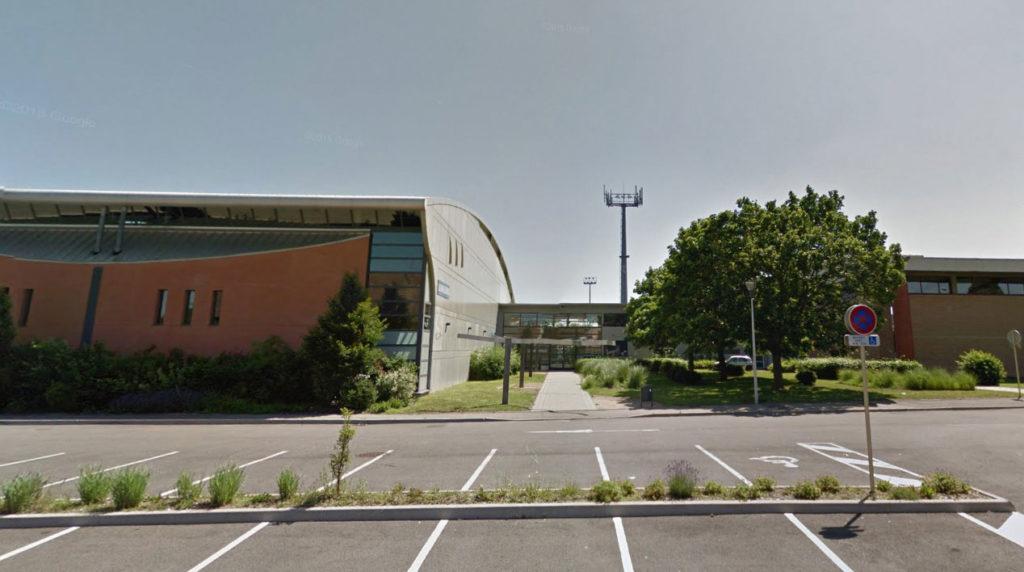 bâtiment de la société de gymnastique Espérance de face, Entrée