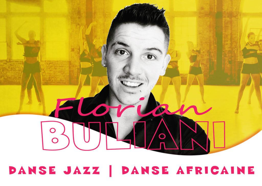 Florian Buliani intervenant DANSE AFRICAINE et DANSE JAZZ de la journée