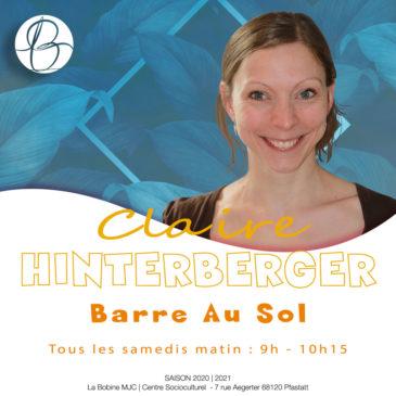 Nouveauté ! Cours «Barre Au Sol» – Samedi de 9h à 10h15