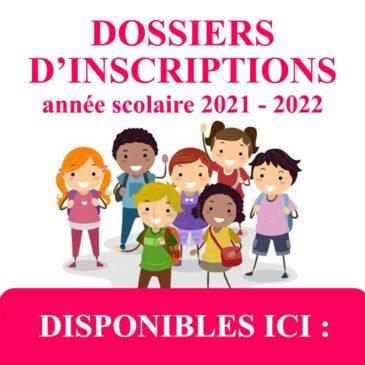 INSCRIPTIONS | Périscolaire, Mercredis et Restauration collège | rentrée 2021 / 2022